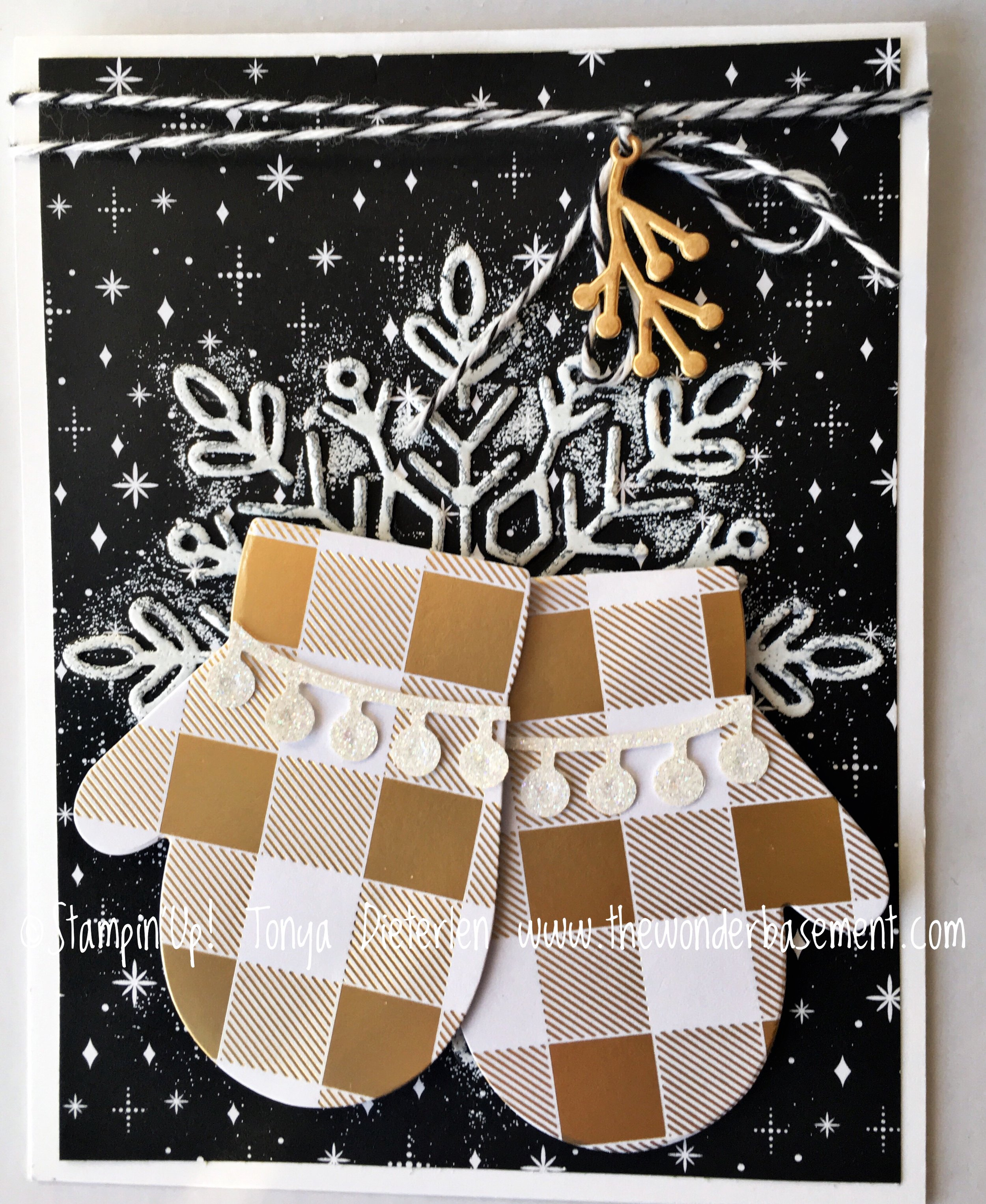The snowflake on the black printed paper was made by using the snowflake embossing folder & then inking just the raised embossed area with White Craft ink. I see stars with this design!