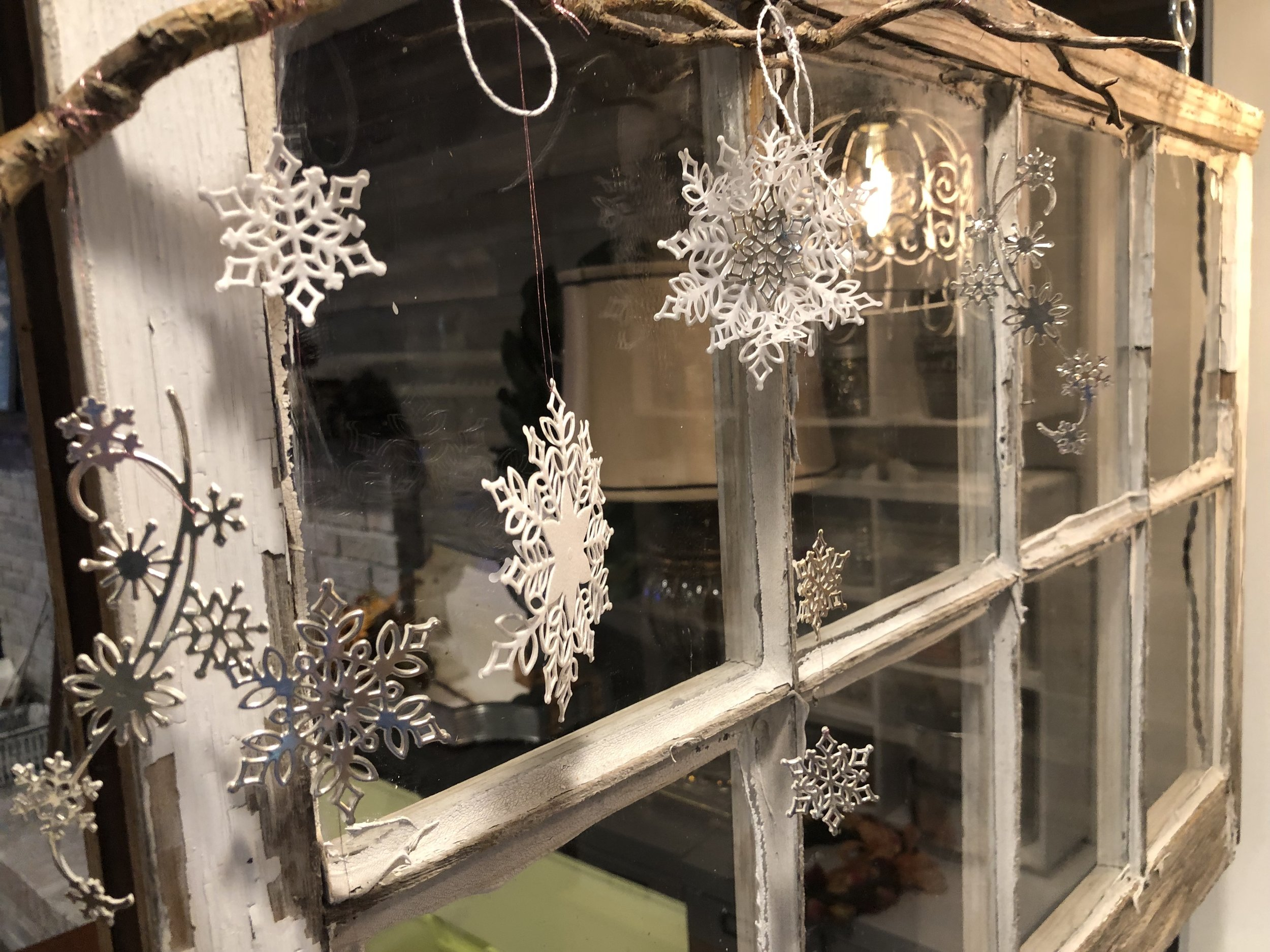 A sweet snowflake mobile. So simple, yet strikingly beautiful.