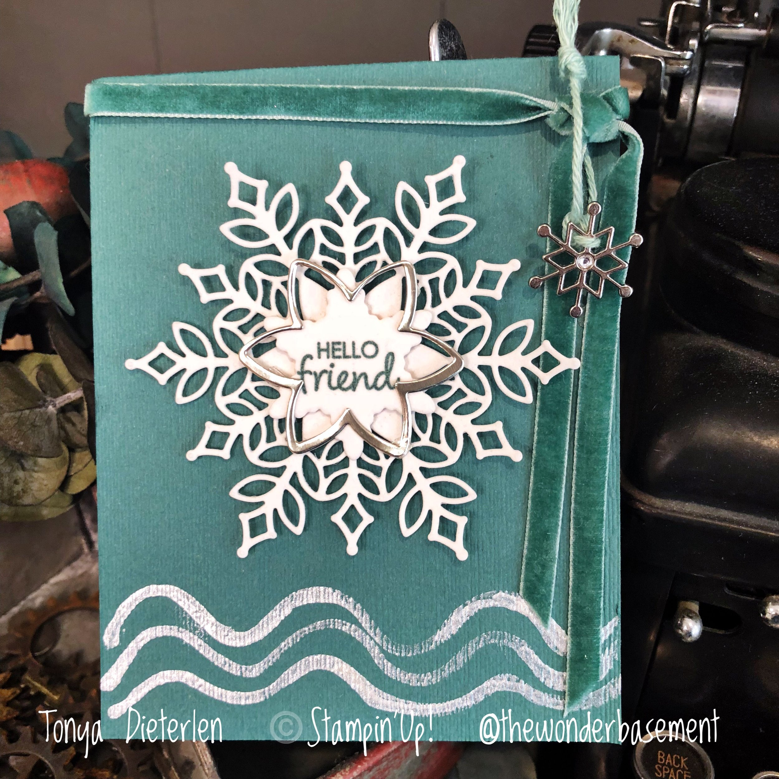 Or how about a sweet and simple note card for a friend this Winter?? This is definitely simple stamping.