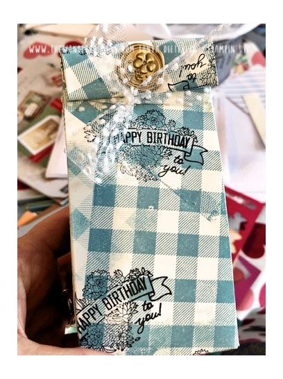 The stamps aren't retiring on this project (whew!), BUT the gift bag punch box is! This great little tool helps you make all different sizes of gift bags.