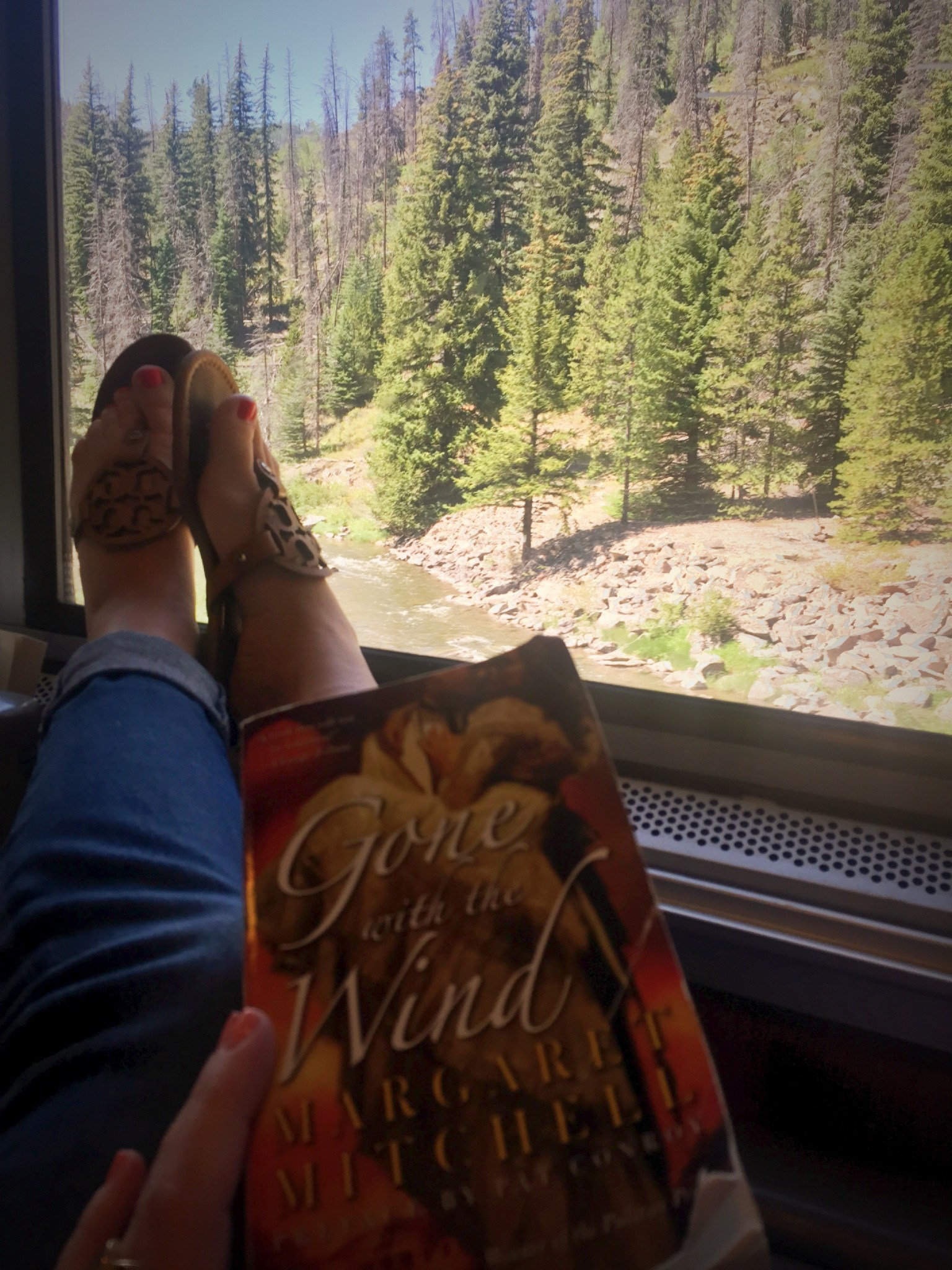 Reading Gone With the Wind while on the cross-country train. In the words of Morgan: #crushingit