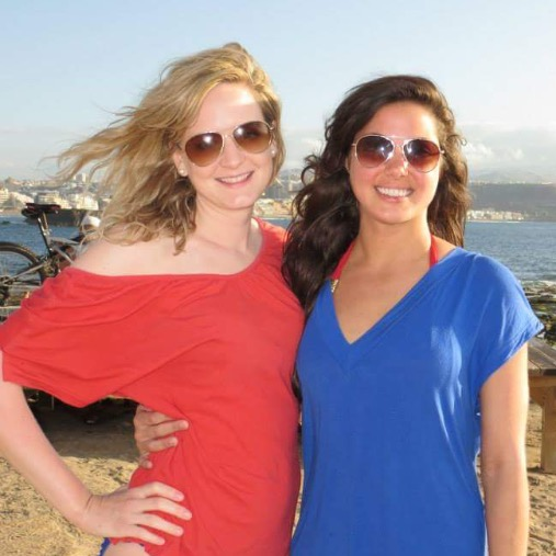 Jenny (right) and I (Arie)living out our beach dreams in the Canary Islands.