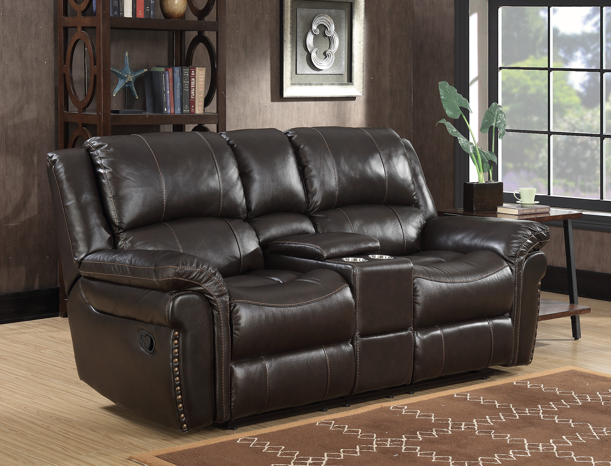 MNY2460-50 Man Release Leather Motion Console Loveseat Room.jpg
