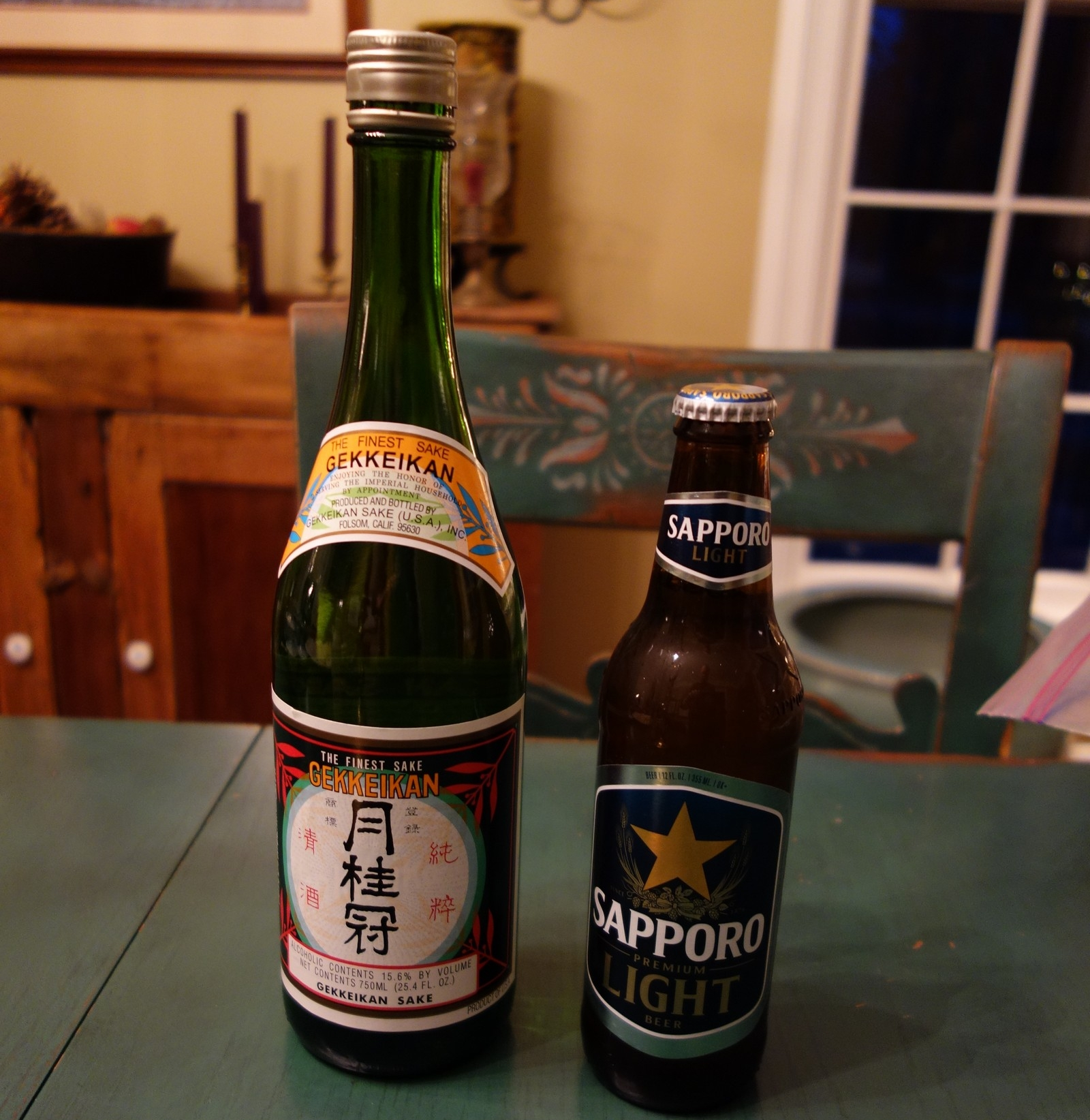 A little Sake and a Japanese beer (Sapporo, Kirin, or Asahi) really add to the Japanese experience.