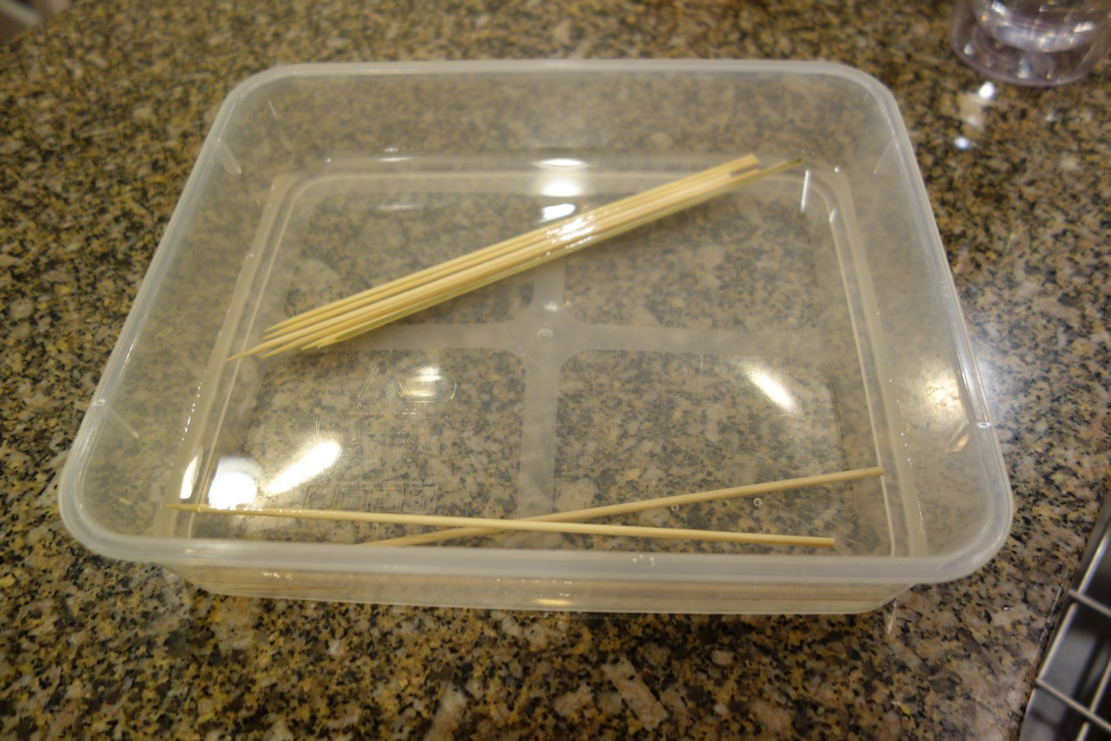 Soak the bamboo skewers in water for 30 minutes or so. You can buy 'em on Amazon or at Asian markets.