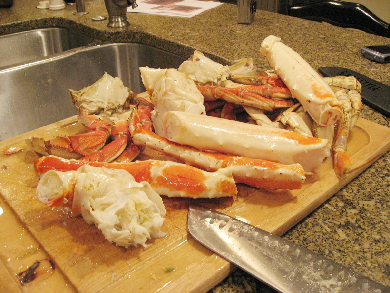 We've tried this with several types of crab, but king crab is our favorite.