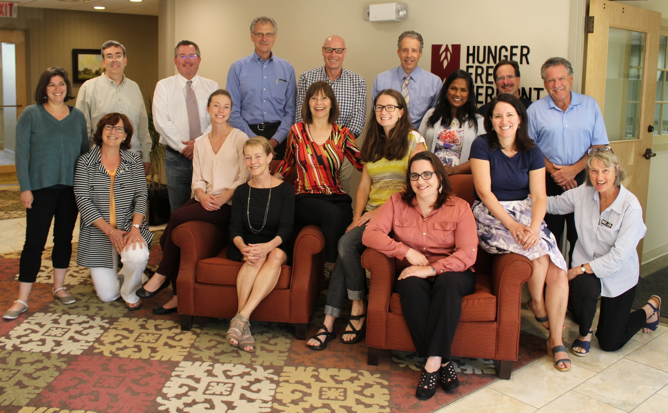 June 2017 board meeting including outgoing and incoming board members.