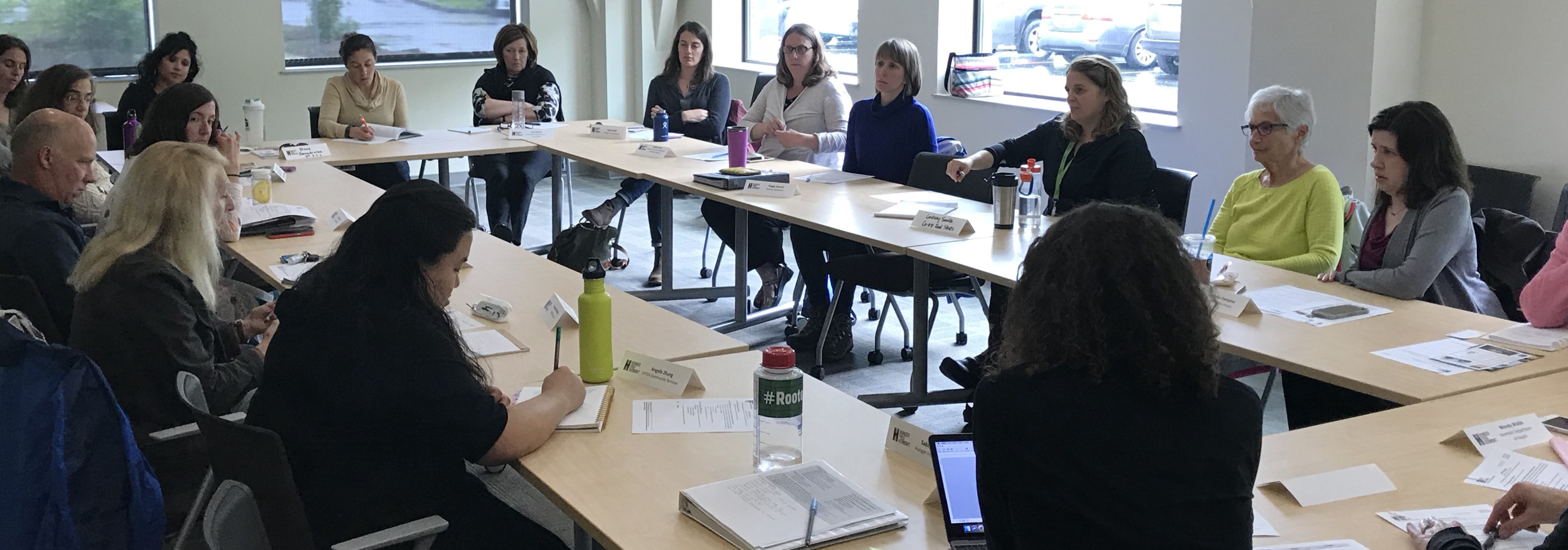 Hunger Council members share best practices around nutrition and cooking education at the June 2018 meeting.