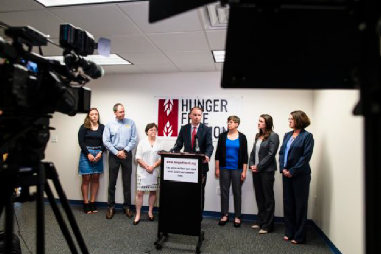 VT Digger's coverage of HFVT, VT Foodbank, and AG TJ Donovan's Joint Press Conference
