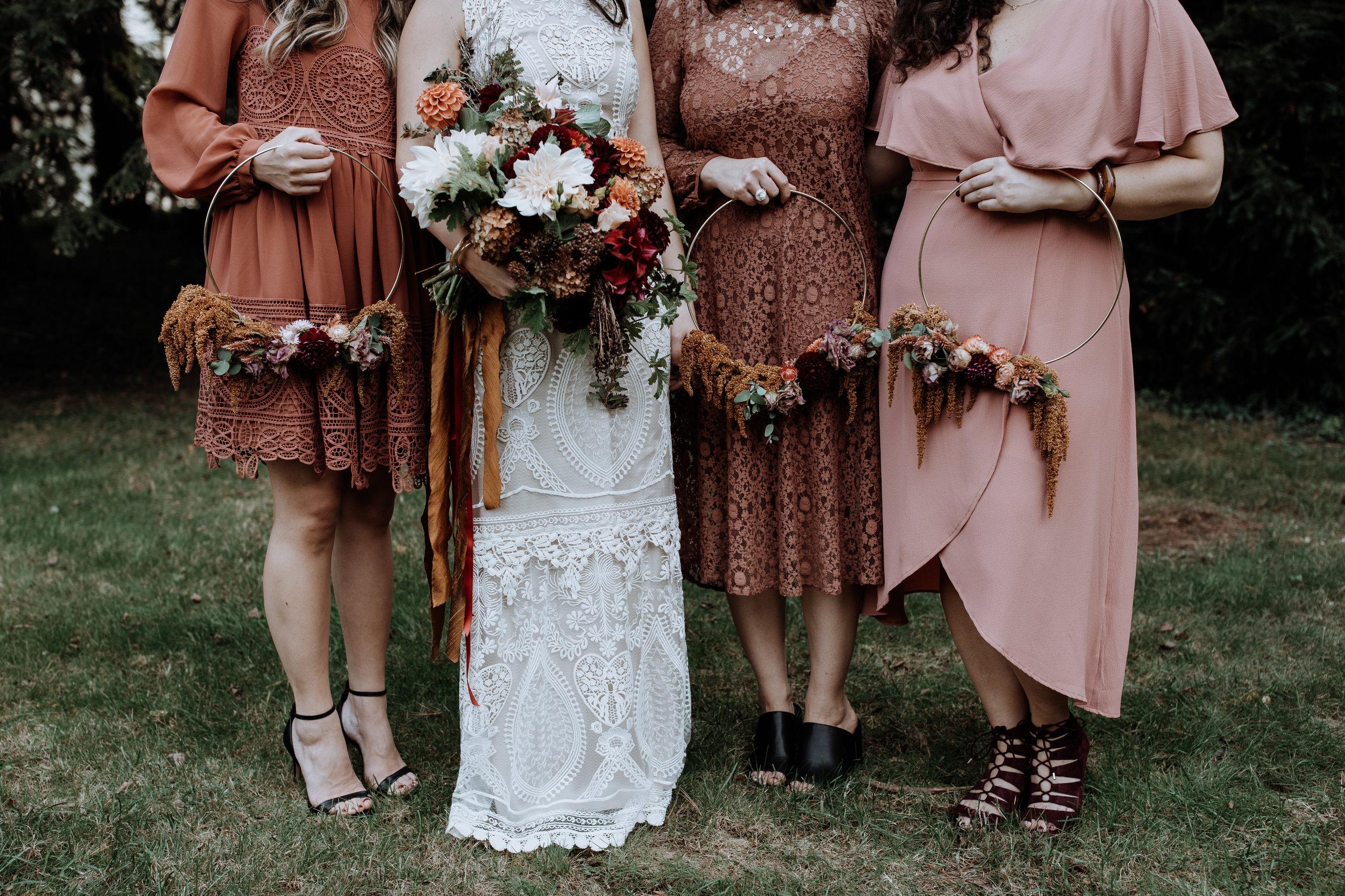 brideswomen dresses from ASOS and Zara