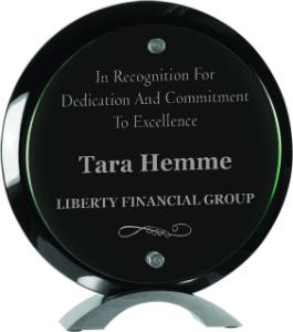 Minneapolis, MN jade glass award