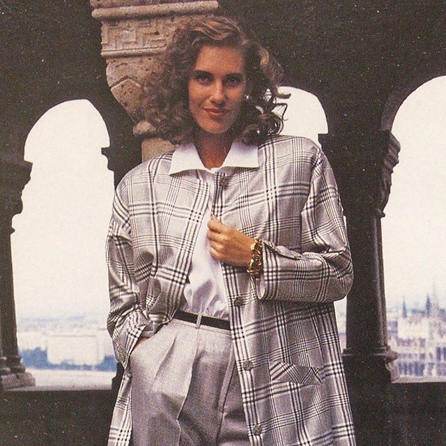 """Givenchy en Plus set the tone for plus-size fashion in the 1980s. Silhouettes were loose, fabrics were luxurious and shoulder pads were…fashionably NFL-esque. . Jokes aside, what's unique about Givenchy en Plus in thehistory of plus-size fashion is the fact that its designers did not seem to pander to the established rules of plus-size dressing, which demanded figure flattery and restraint. By-and-large, Givenchy en Plus's offerings were a direct translation of the main line's offerings, but with some significant adaptations. . As Helen Genute, director of sales and public relations for Givenchy en Plus told WWD in January 1988, """"The problem with some manufacturers entering this market is they think there's no difference between a misses' size 18 and a large size 18. But the fact is there is a lot of difference, in cut, fit, proportion."""" . Continuing, she explained how it took her team """"two years to refine our fit, and in this category if you don't have good fit, you don't have anything. Those manufacturers who don't really know what they're doing in large sizes hurt those of us who are really dedicated to this customer."""" . Above, an advertisement for Givenchy en Plus that appeared in the October 4, 1988 issue of WWD. . . . . #fatfashionhistory #voguemagazine #vogue #plussize #plussizefashion #plussizeappreciation #fat #fatstudies #fathistory #historicalfatpeople #curvefashion #curvy #1980s #1980sfashion #fatshion #fatshionista #fashionhistory #fashion #dresshistory #fashionstudies #wwd #fashionphotograph #fashionphotography #blazer #suit"""