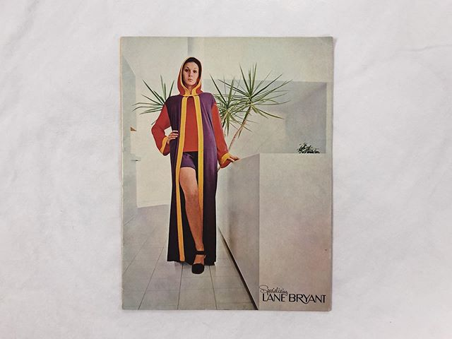 """Although Lane Bryant has long been synonymous with plus-size, from its earliest days, the company specialized in, well, special sizes. . A 1910 advertisement I posted a few weeks ago promoted made-to-measure tailoring at no extra cost. In the 1920s, the brand really leaned into stoutwear, only to back off beginning in the 1940s. Why? I believe it was because of the rise of the American Look, and therefore a growing notion that it was every American's patriotic duty to look outwardly healthy. Thus, fat became increasingly unmarketable. . This remarkable Lane Bryant catalog from 1971 reflects this shift in the mid-late twentieth century. Rather than double-chinned stout women, the catalog is full of aspirationally leggy beauties wearing Lane Bryant Tall apparel and """"hard-to-find sizes 16-18-20."""" . Don't get these 16s, 18s and 20s mistaken with today's sizing standards, however. These would actually translate to contemporary 8s, 10s and 12s—or those in-betweener sizes. The 70s were actually sort of a weird moment in the history of women's sizing: The old sizing guidelines established by the National Bureau of Standards in the 1950s were increasingly proving outmoded (and confusing) and brands were beginning to implement their own sizing standards.A decade later, standards would be abandoned altogether and vanity sizing would rule the day. . In this catalog alone, there is letter sizing (S-XXL), juniors sizing (odd nos. 15-27), traditional European sizing (bust measurements 38-52), short stouts (half sizes 16.5-26.5) and a trademarked category called """"Minims"""" for even shorter stout women (half sizes 14.5M to 26.5M). Are you confused yet? Although its perhaps a lot to digest, you have to hand it to LB for striving to fit such a wide variety of bodies. . . . . #fatfashionhistory #plussize #plussizefashion #plussizeappreciation #fat #fatstudies #fathistory #historicalfatpeople #curvefashion #fatshion #fatshionista #fashionhistory #fashion #dress #dresshistory #fashionstudi"""