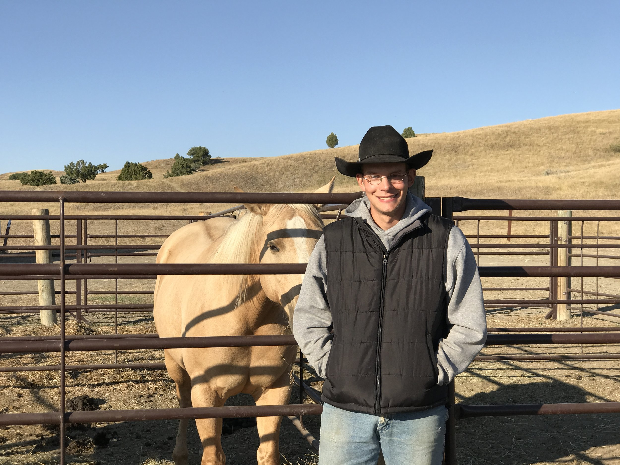 One of our fellow campers, a cattle rangler, saddle trainer and ferrier. .