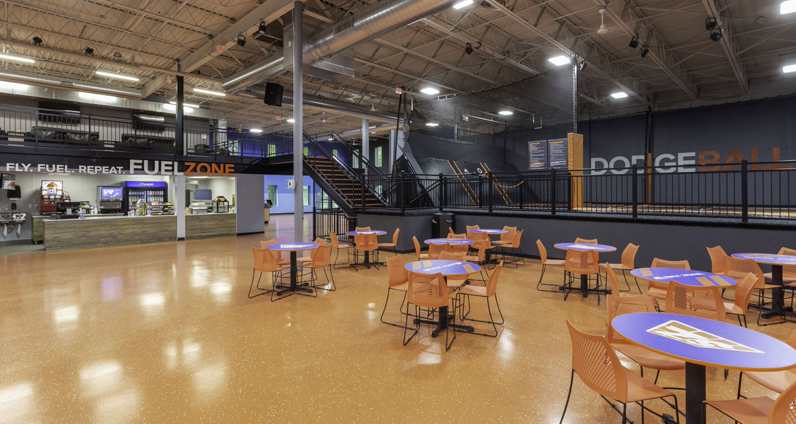 Sky Zone   Edina, MN — 32,000 SF industrial building converted into retail use