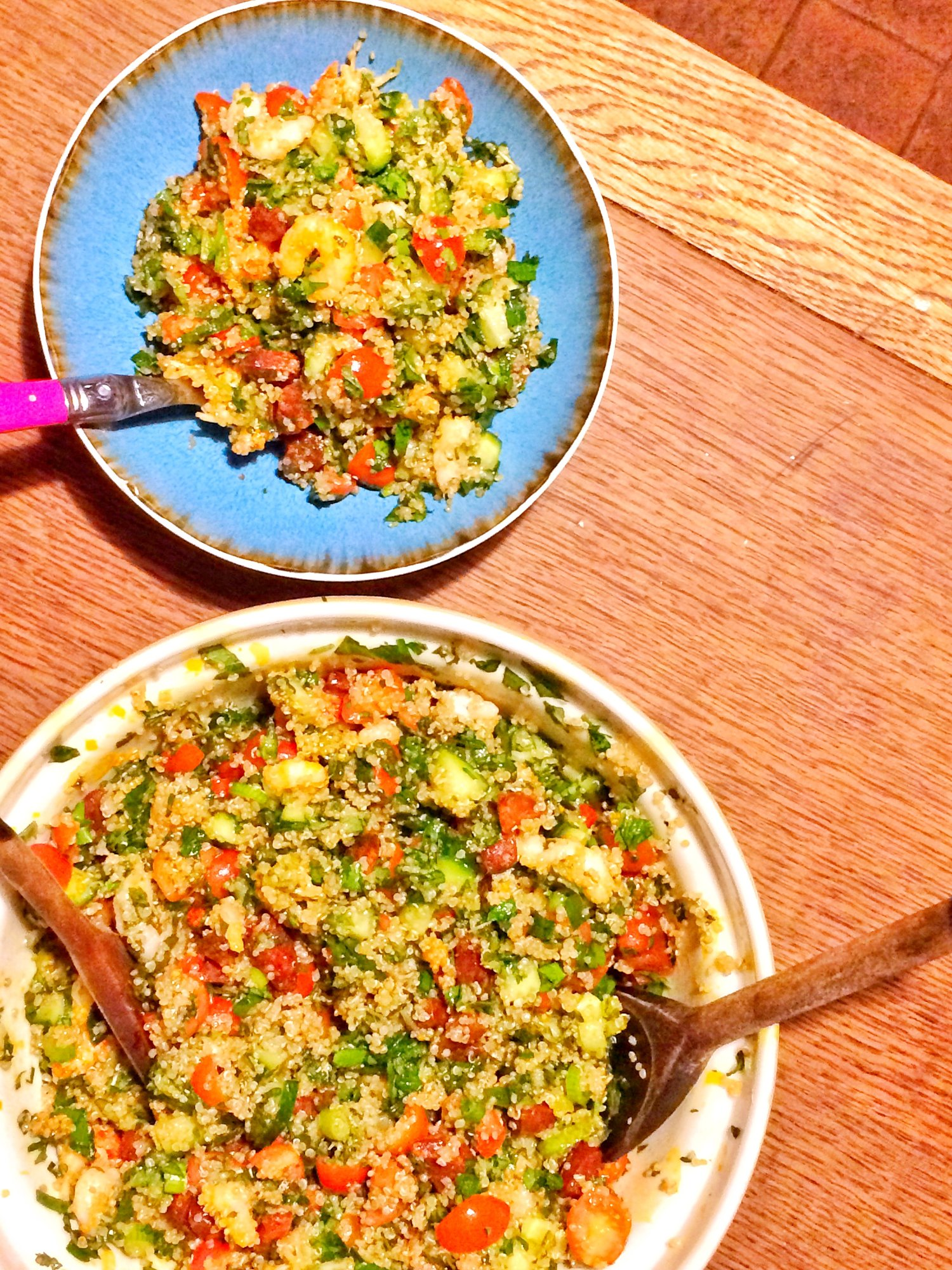 Fresh, filling and delicious prawn tabbouleh