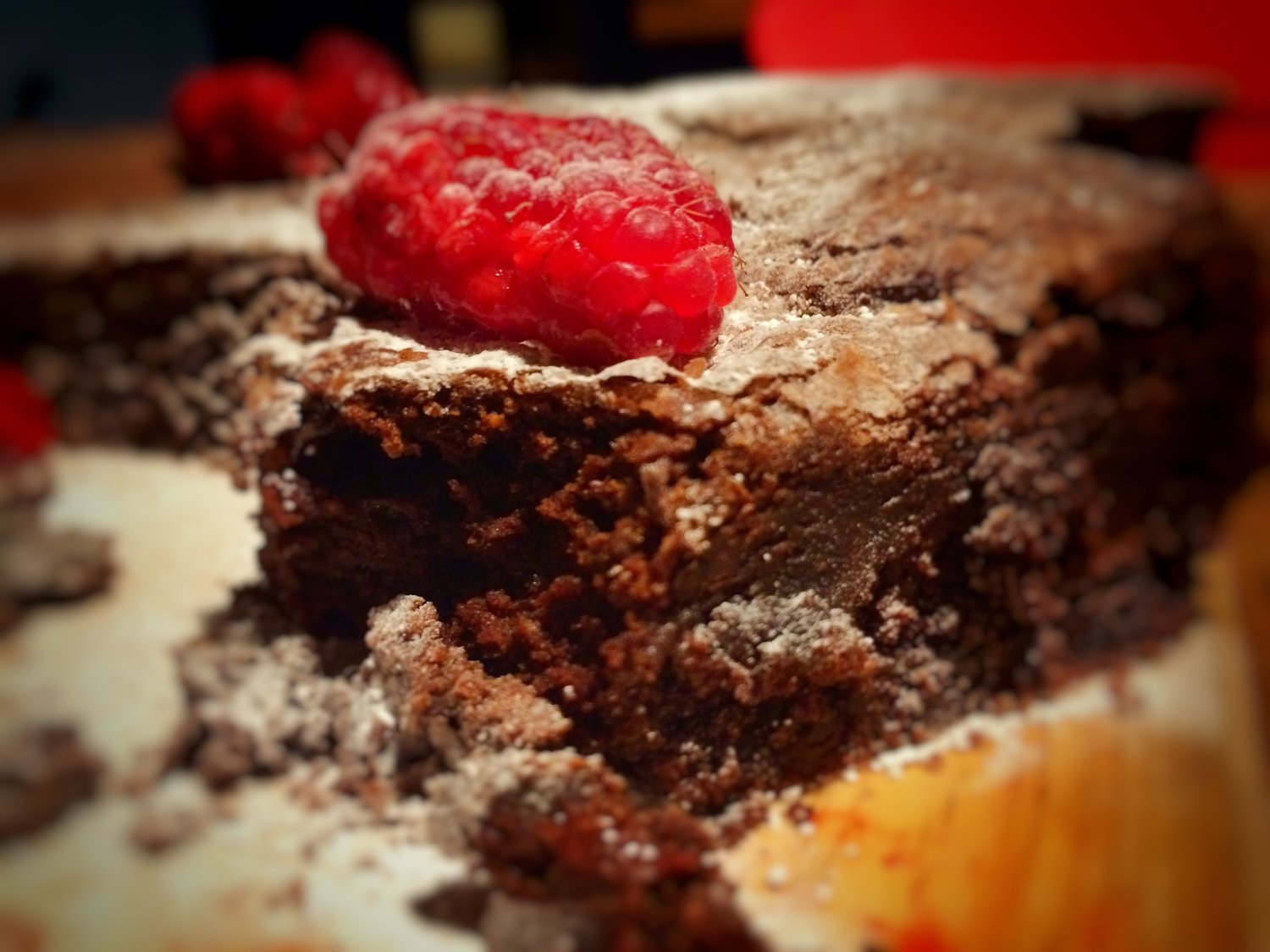 Nothing better than a crispy top, melt in the mouth dark chocolate brownie from time to time!