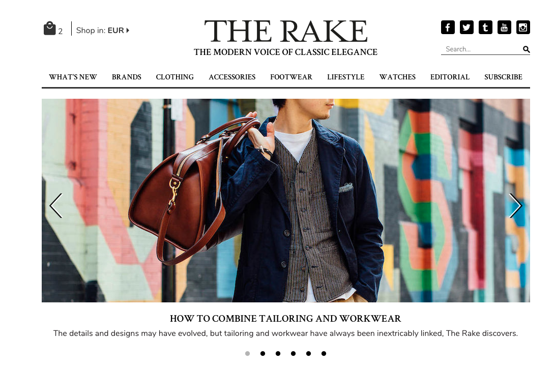 The Rake is a recent voorbeeld van een Magento shop met een PWA front end -  therake.com