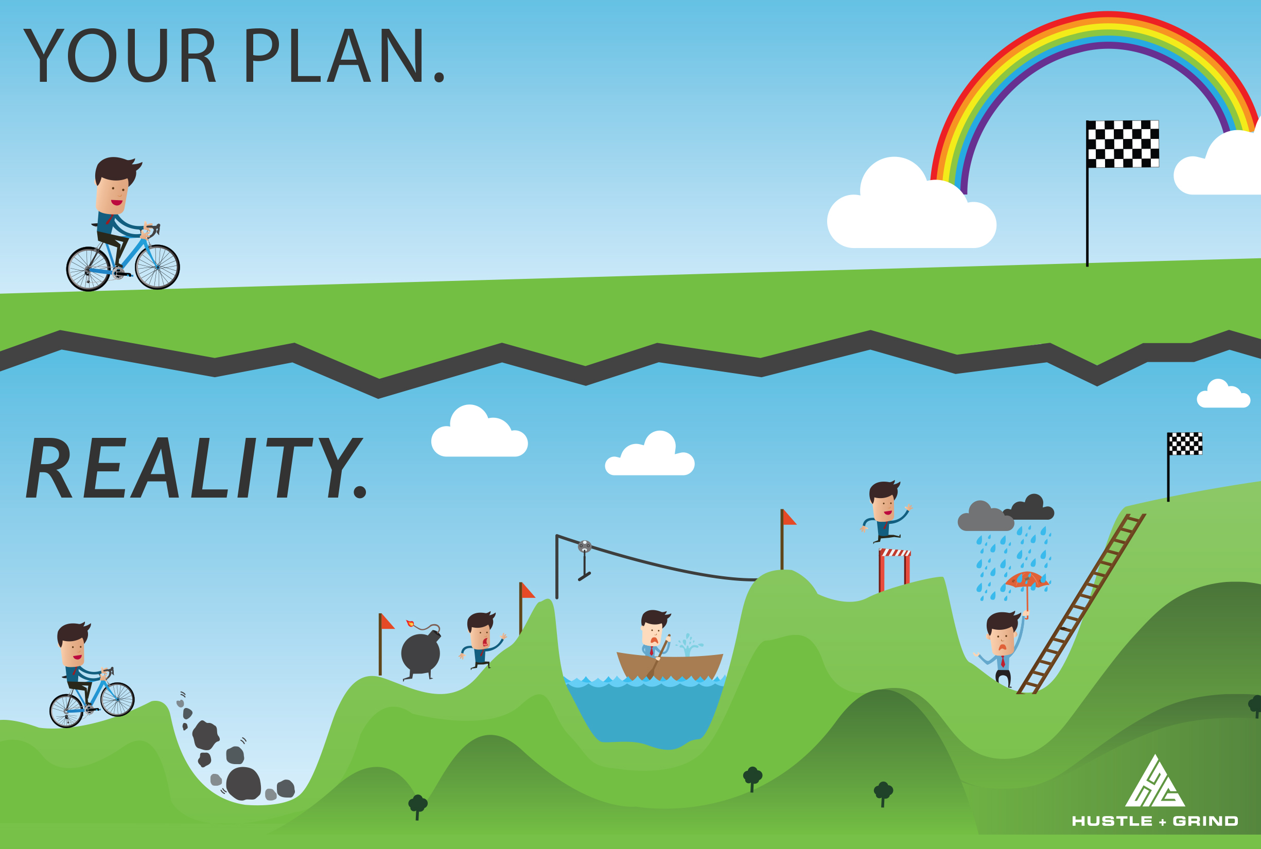 Agile waterfall plan versus reality