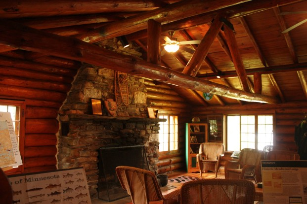 Interior of the Ash River Visitor Center. Kat Audette-Luebke