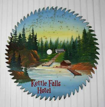 Artwork in the Kettle Falls Hotel. Kat Audette-Luebke