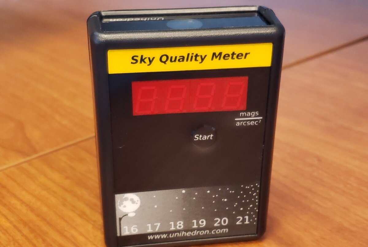 A sky quality meter (SQM), used to measure just how dark the night sky is. Photo by Ashley Wilson