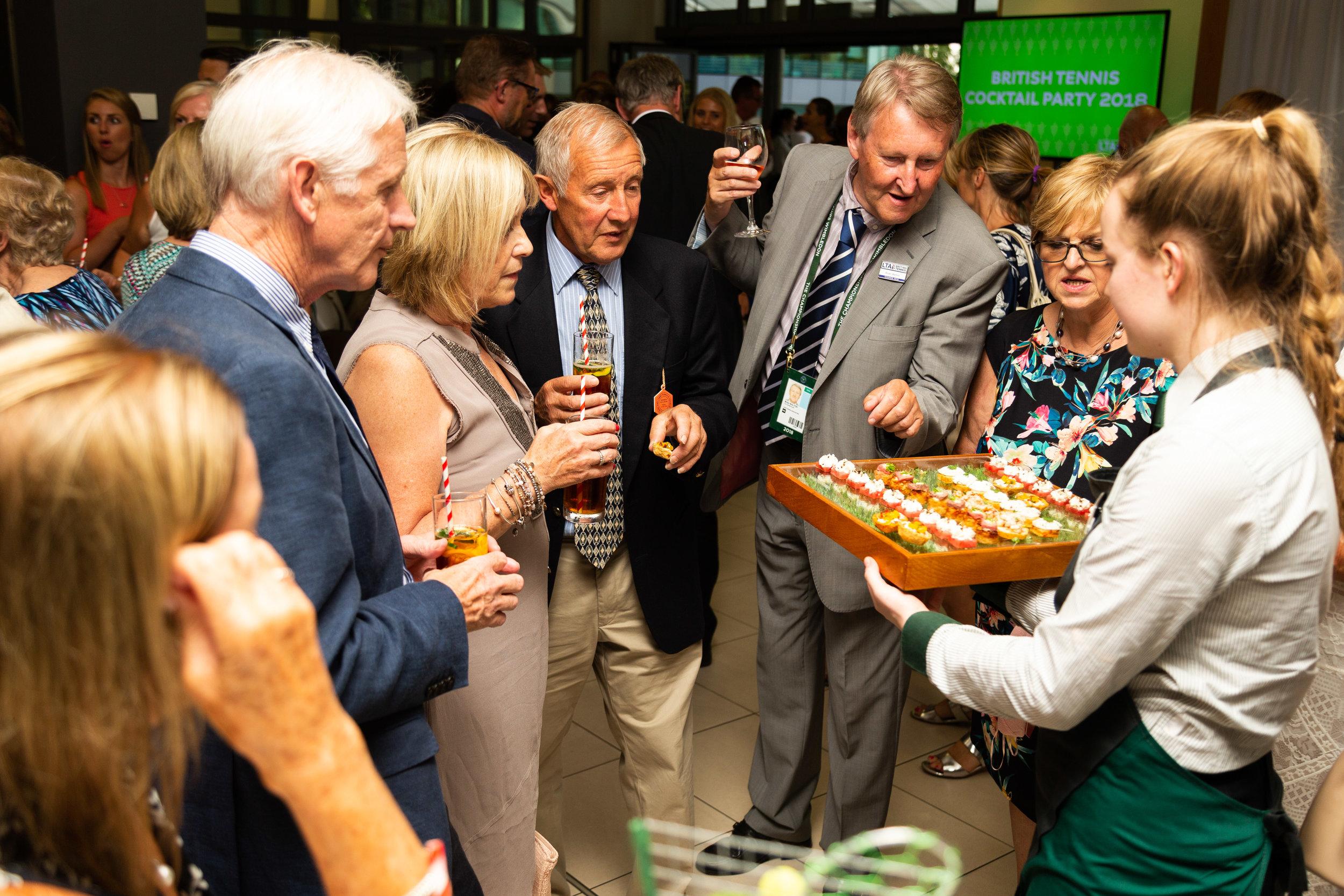 British Tennis Cocktail Party, Wimbledon.