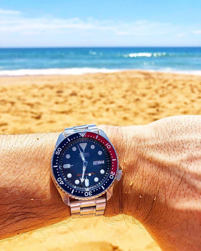When you're down-under and you get that lunch time date change. 🐨🇦🇺🕦 -  #WatchProblems #watchesofinstagram #seikoskx009 #seiko #stopcryingtristan