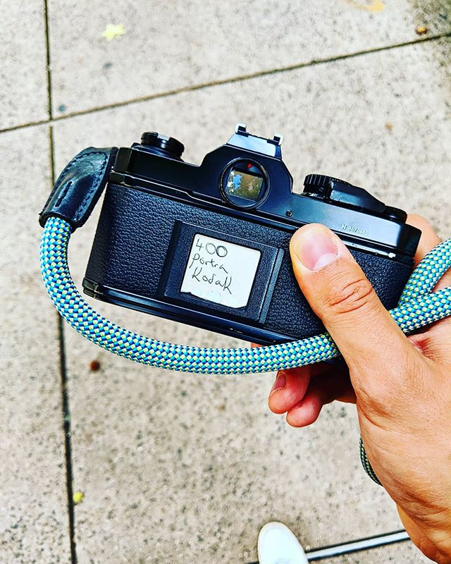 Wandering on #worldphotographyday with my #fm2n hanging from @thecooph strap #portra400 #filmisnotdead #buyfilmnotmegapixels