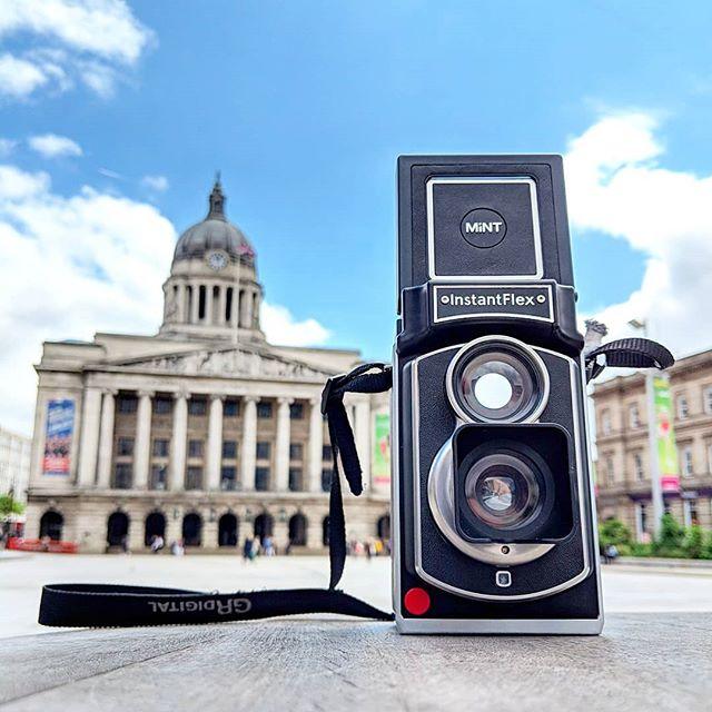 My @mintcamera #tl70 shooting @fujifilm_uk #instaxmini  starting it's travels in Nottingham. 📷 #mintcamera #makeordinarydaysextraordinary
