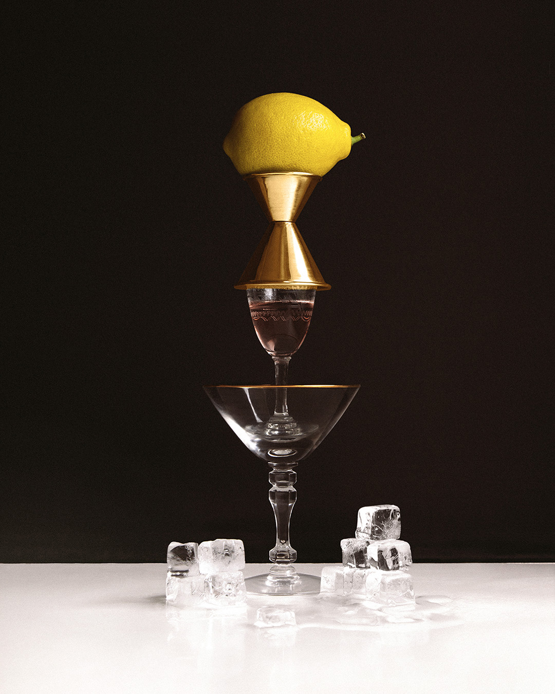 SUFFRAGETTE MARTINI   1  oz  Pomp & Whimsy 1  oz  vodka 1  oz  dry vermouth   Combine ingredients in a mixing glass or cocktail shaker and fill with ice. Stir well to chill.    Strain into a chilled cocktail glass.    Twist a piece of lemon peel over the drink for aromatics and use the twist as a garnish.