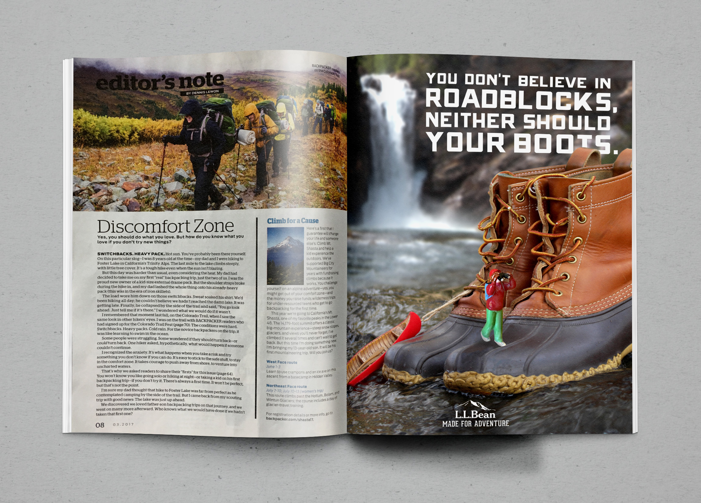 Featured in  Backpacker  Magazine