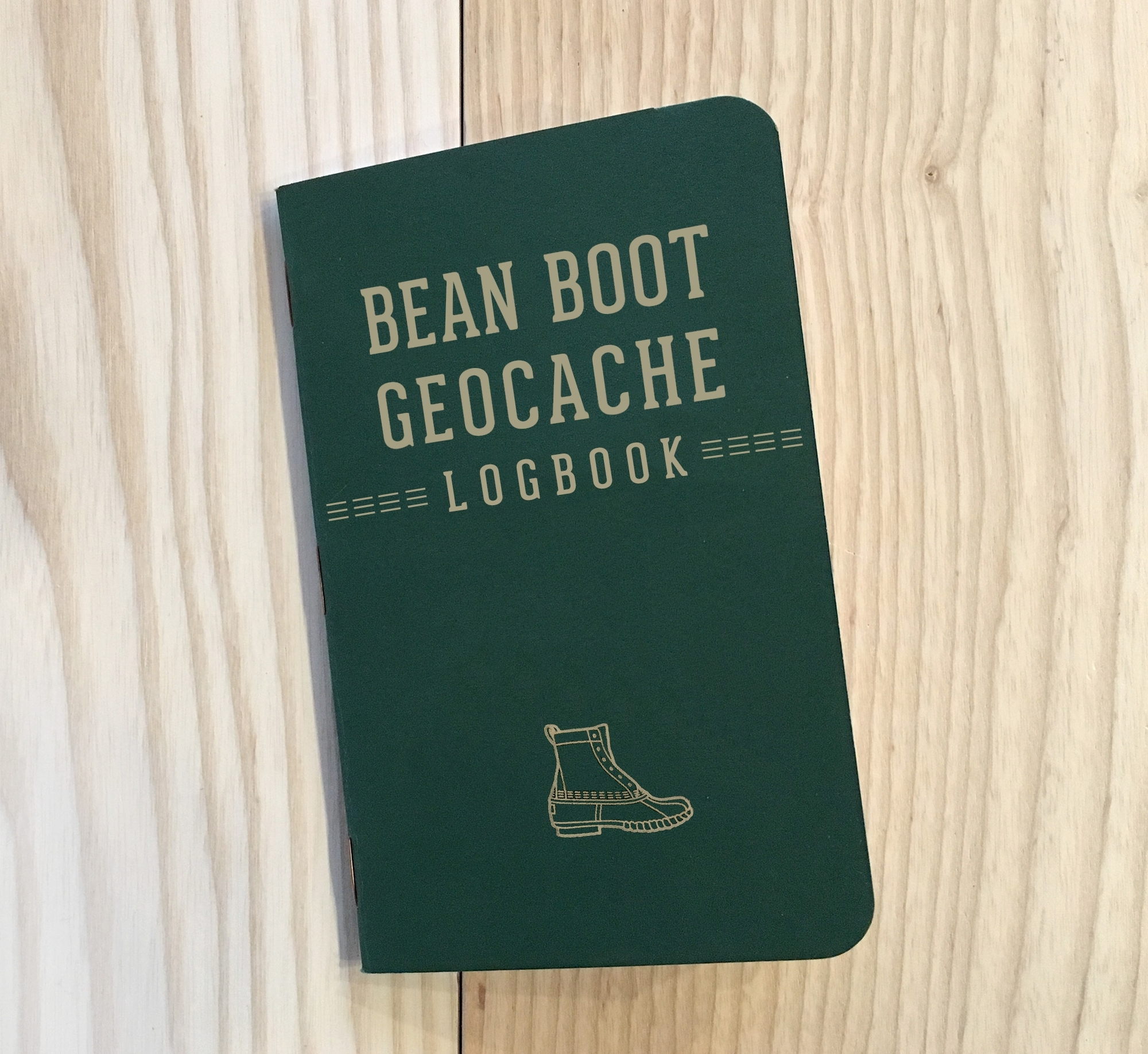 Keep track of the distance that your Bean Boots have traveled with the geocache logbook.