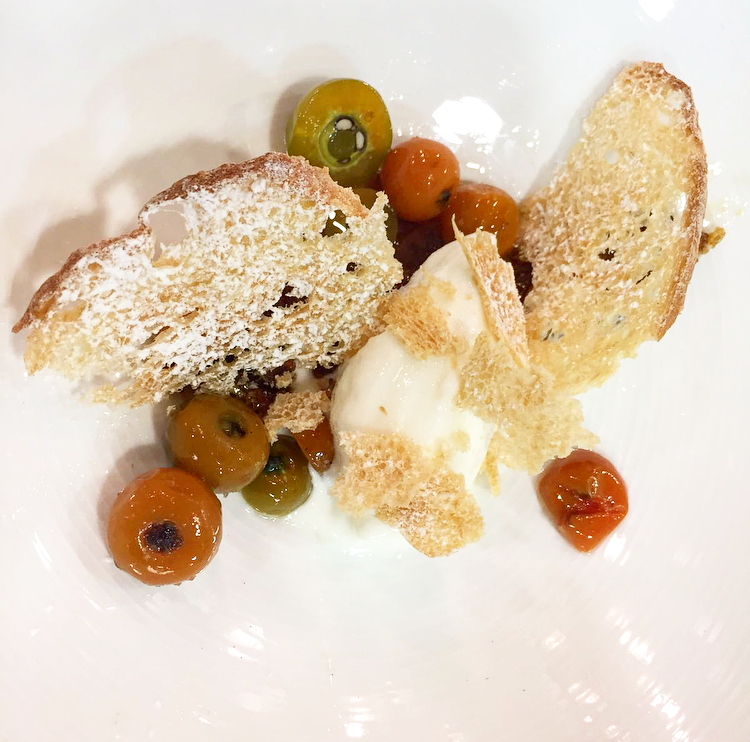 Barbados gooseberry with The Brasserie's honey, yogurt and bread.