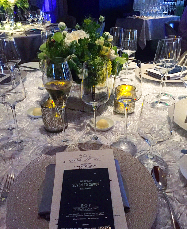 The layout for the Seven to Savor Gala Dinner
