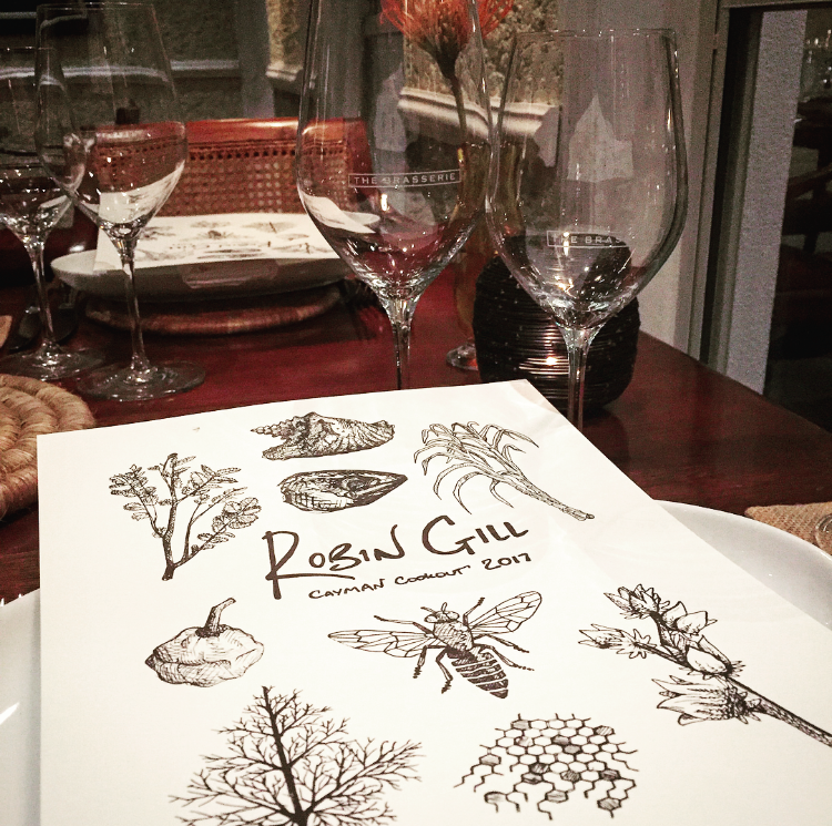 Barwick's beautiful sketches on the menu cover