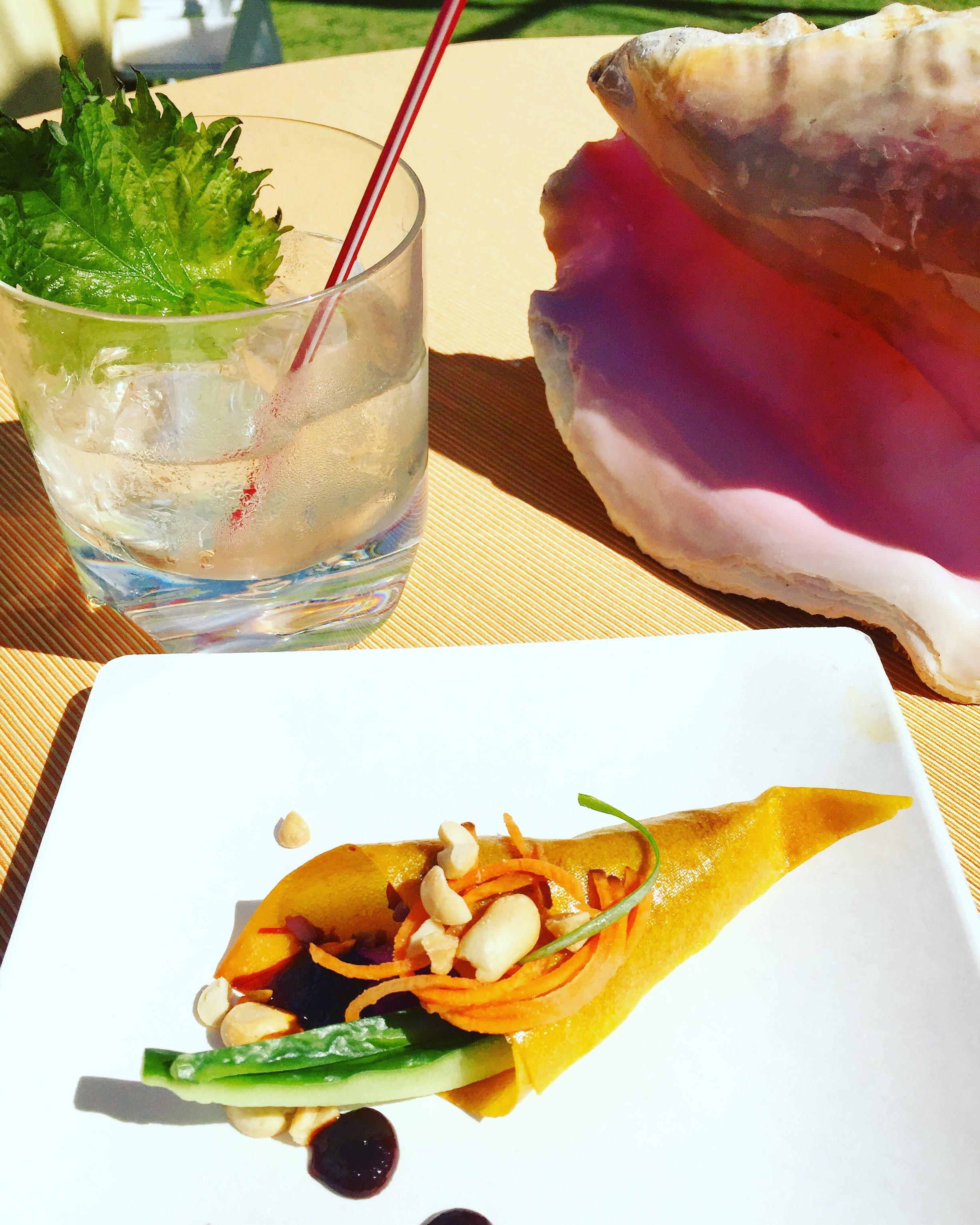Nyamaste & Saucha's Malaysian inspired coconut kimchi cone with spicy mange peanut glaze