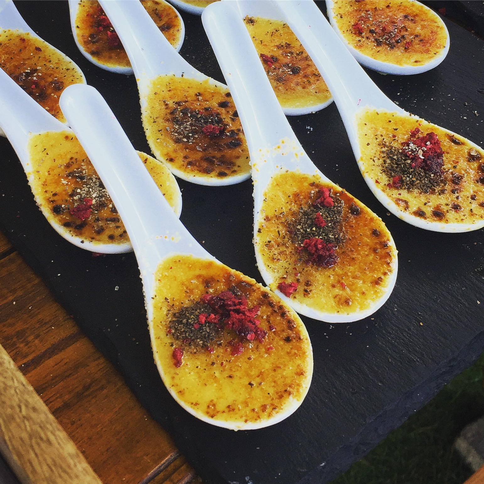 The Bistro's French creation of a foie gras creme brulee