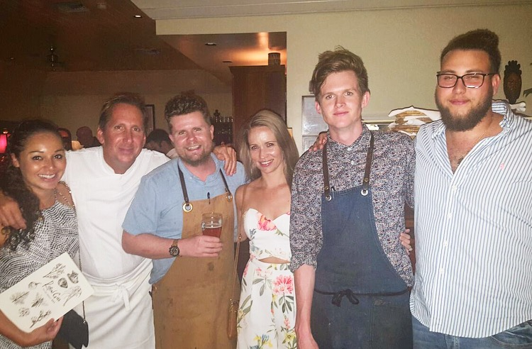 Group photo with Chef Dean Max, Chef Robin Gill & Sous Chef Jack Barwick