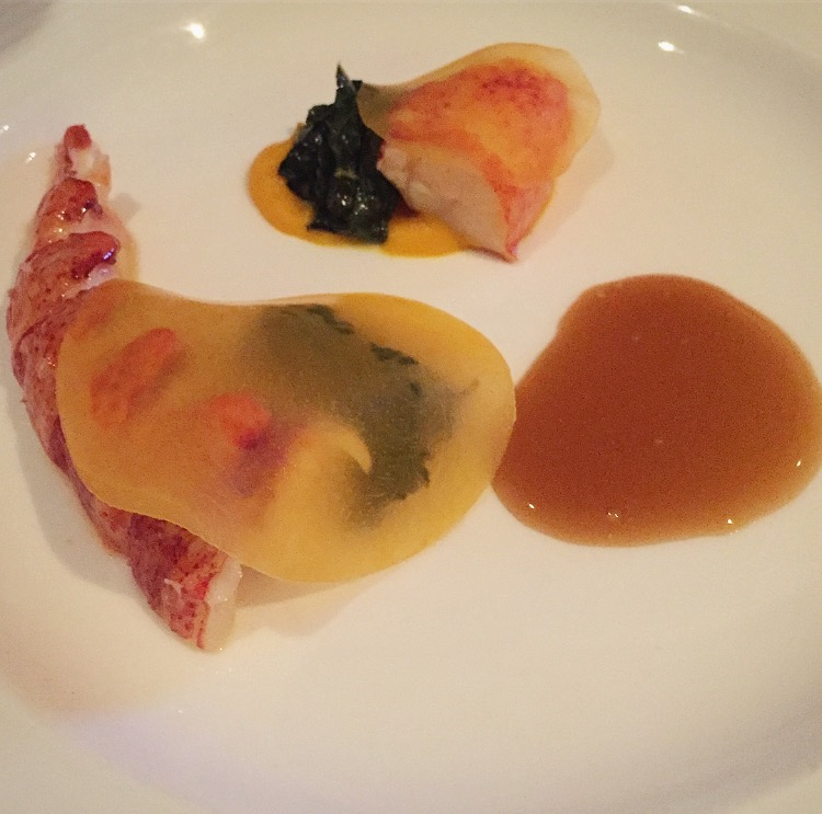 Daniel Humm's butter poached lobster, squash & kale