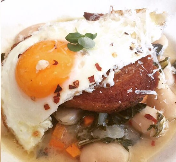 Pork Belly, Mushroom Sugo, Polenta & Fried Egg