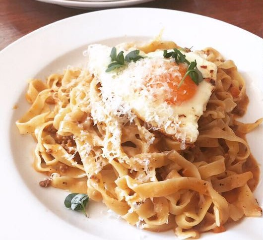 Pappardelle Alla Bolognese & Fried Egg