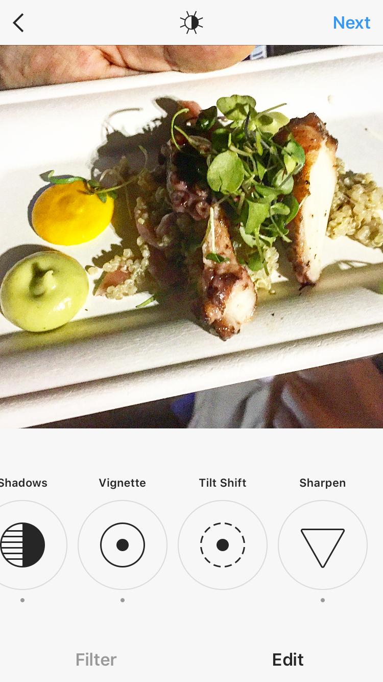 Prima's succulent octopus dish