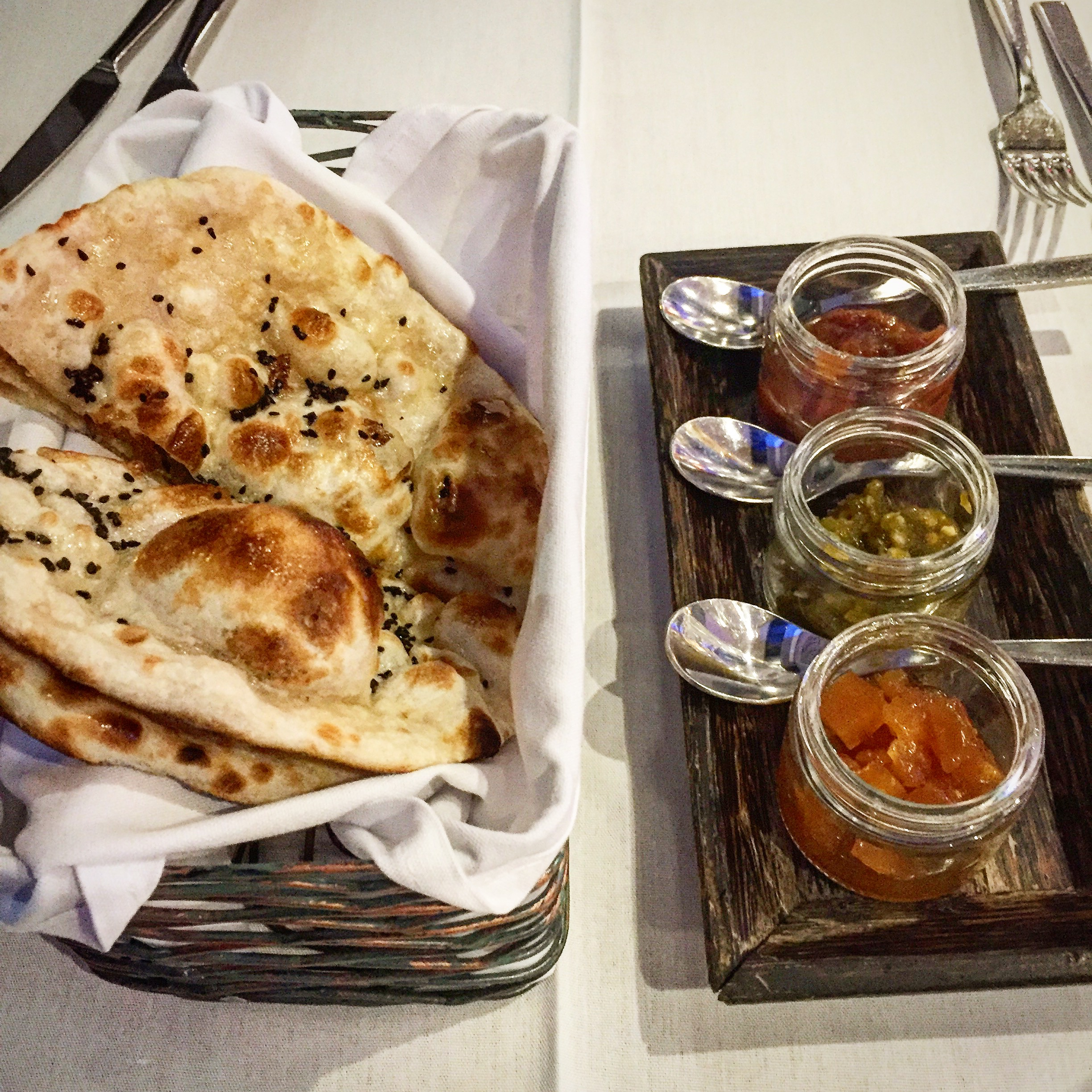 This has to be the best clay oven flat bread on island!  Definitely give each of the chutneys a try to find your favourite, from sweet plum to spicy jalapeno.