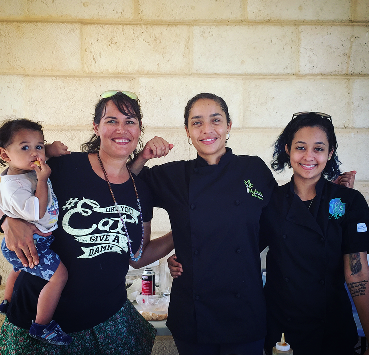 Group shot of Chef Britta of  Saucha , Chef Jolene of  N  yamaste  & Chef Jess of  Taste This Life