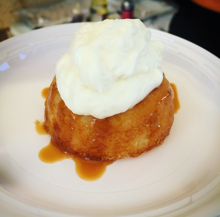 Chef Jess of  Taste This Life  prepared a white chocolate coconut cake with Seven Fathom's caramel and whipped cream