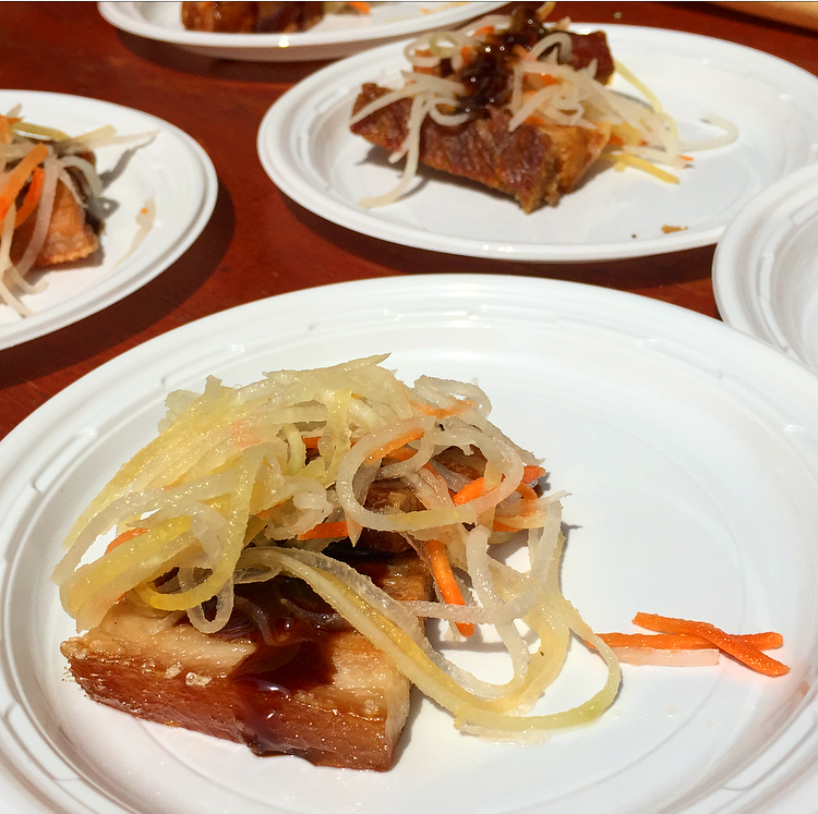 Abacus' crispy Asian style pork belly
