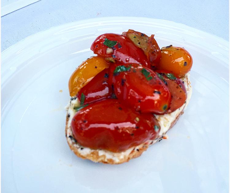 Cayman Cabana's local tomato crostini was a burst of flavour