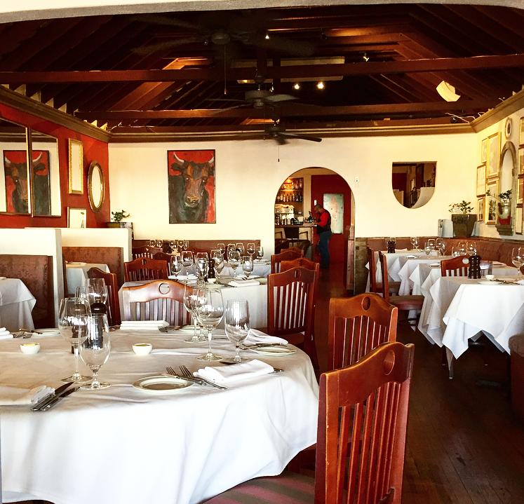 Inside of the Bolero Brasserie dining room