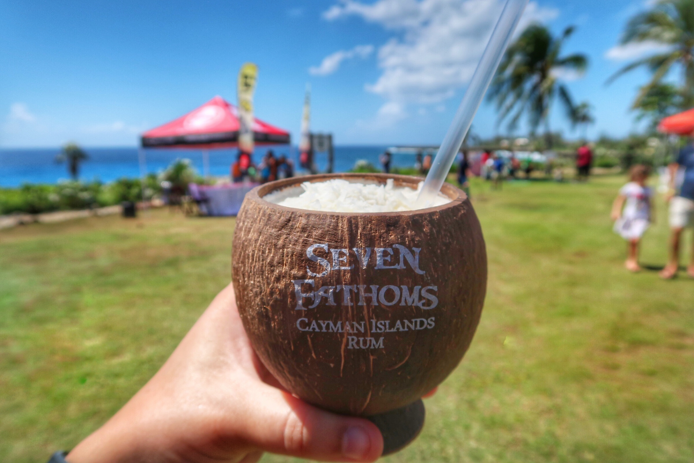 Cayman Spirits Company's cocolada in their souvenir cup